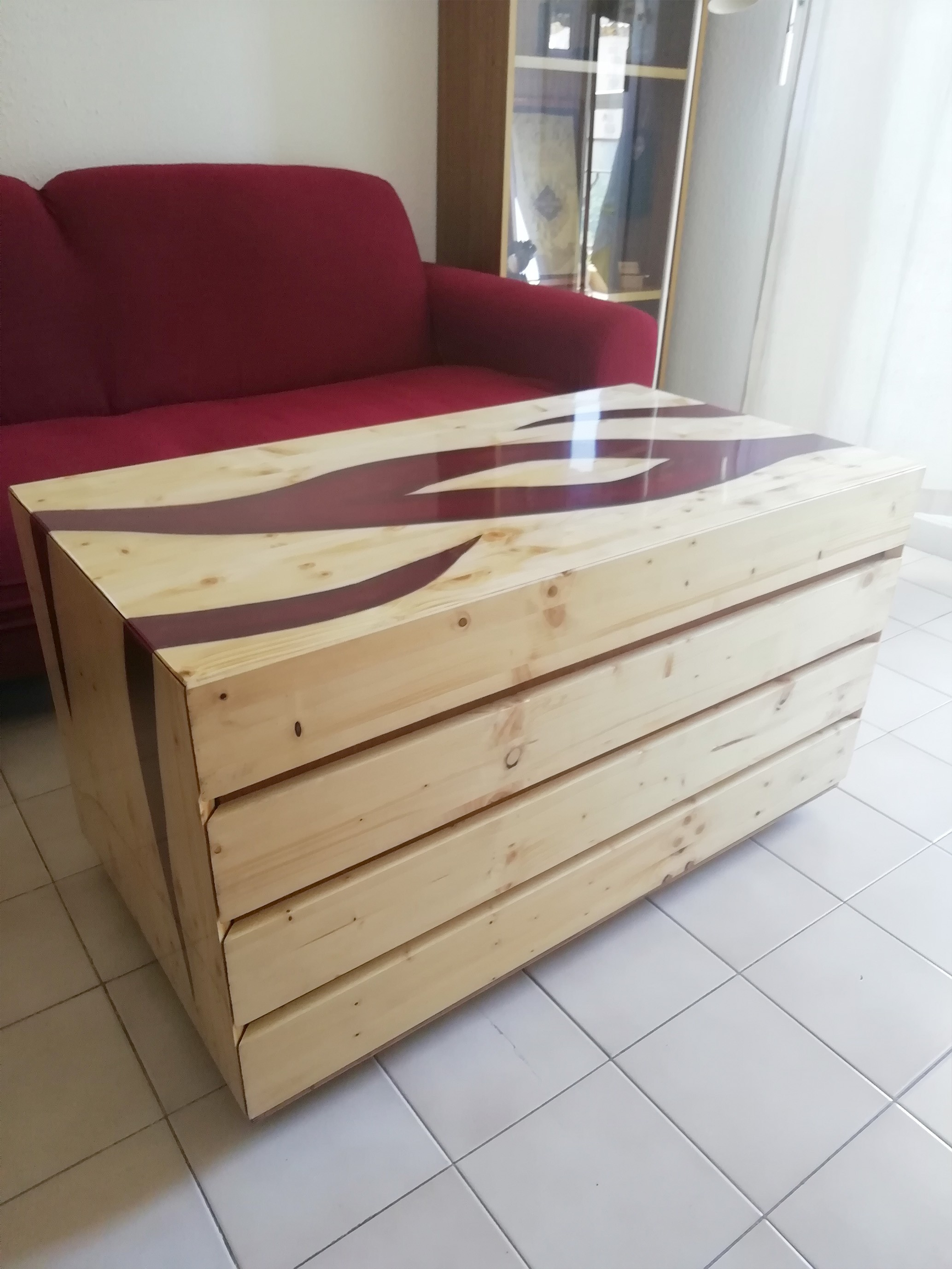 Table Basse Époxy