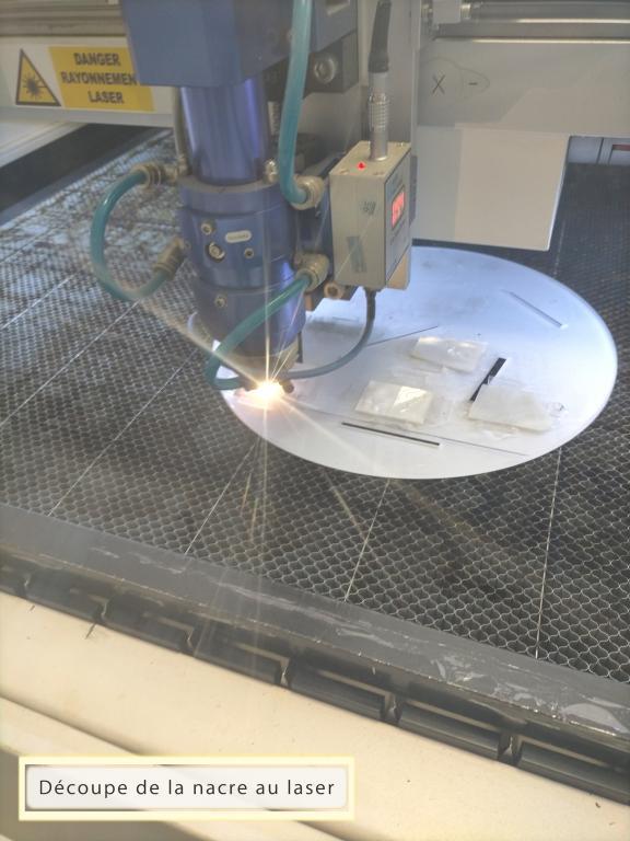 Découpe nacre laser