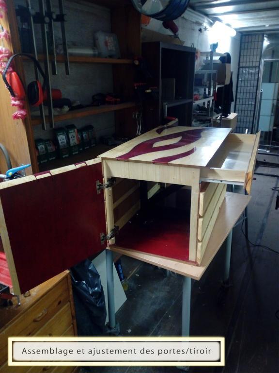 installation, ajustement des portes et tiroir